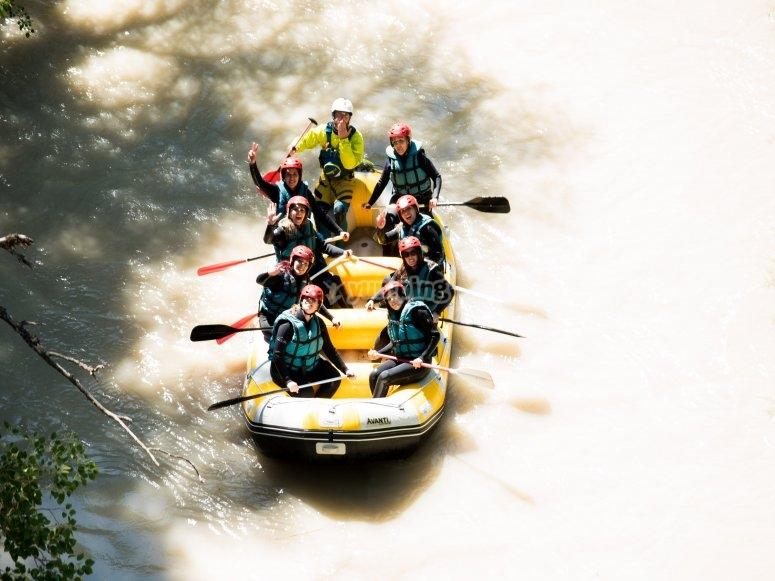 Group enjoying rafting