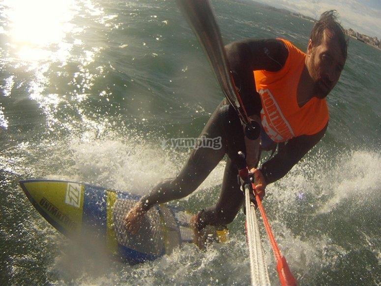 kitesurf cantabria pantano del ebro
