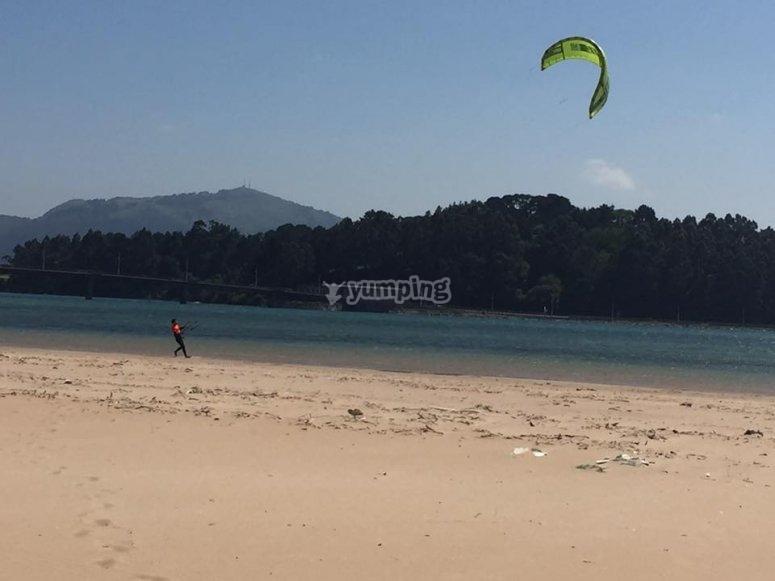 Kitesur en tierra
