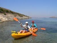 Reaching the coast by kayak