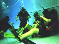 Diving course in the pool