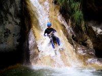 Descent down a slide