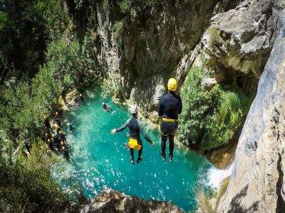 Barranquismo en río Verde Granada parte alta