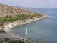 Sailboat on the coast of Murcia