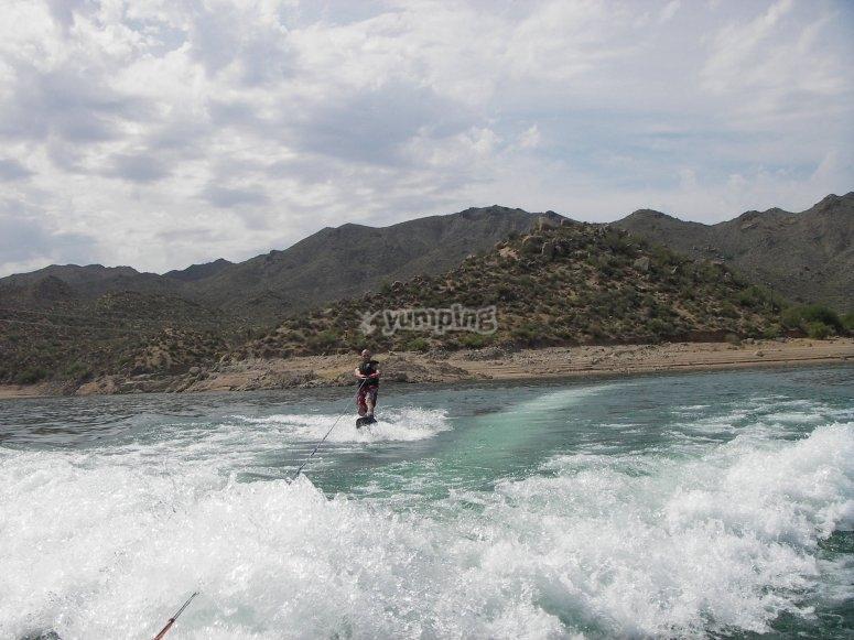 Wakeboard en El Burguillo