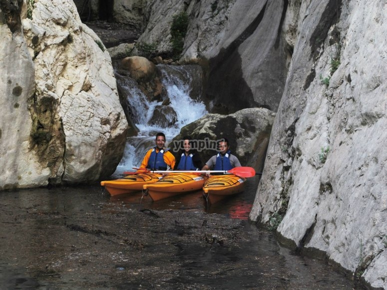 Descent in kayak