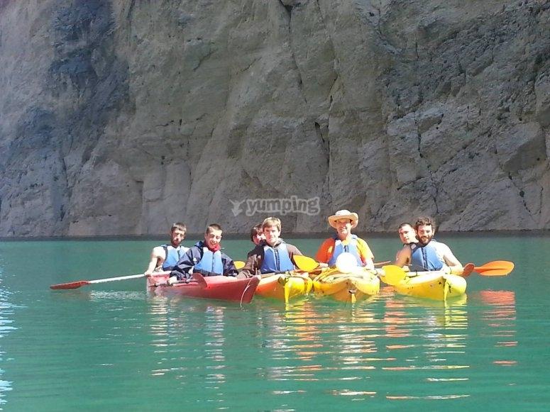 朋友中的皮划艇
