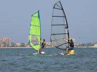 During windsurfing class