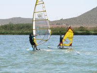 Windsurfing with large and small boards