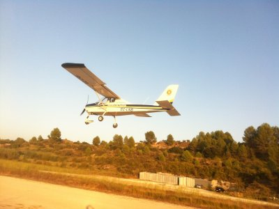 First flight in microlight in Alcocer 45 minutes.
