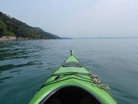 Navegando en piragua