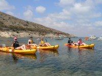 Group of kayakers on Murcian coast