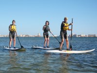 Paddling with sup paddle