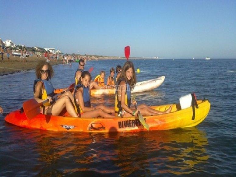 Kayak route in Huelva