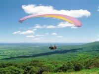 Volando en parapente sobre el Valle de La Orotava