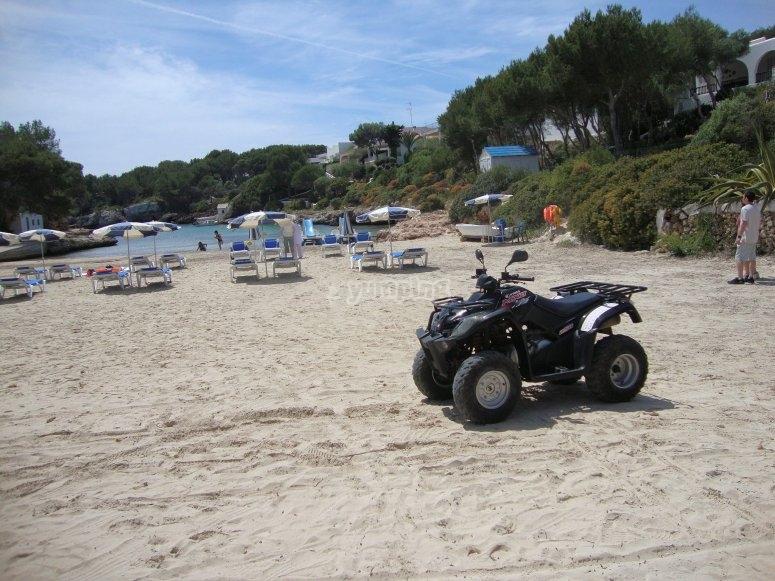 Quad ride through the coves of Menorca