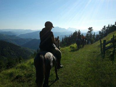 Montar a caballo en el Valle de Lastur 2 horas