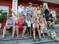 Grupo del campamento de verano