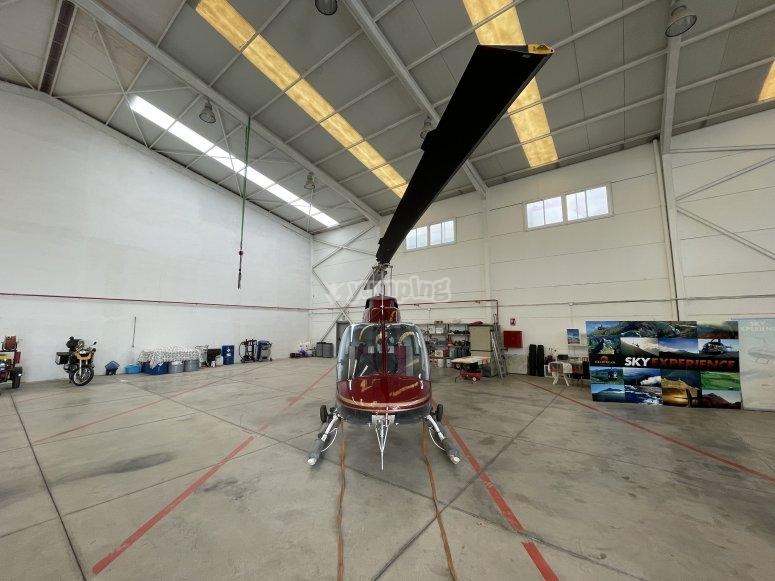 Espectacular imagen del helicóptero