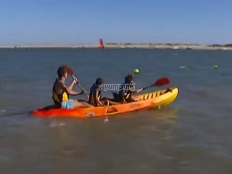 Kayak en El Portil