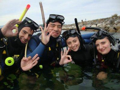 Bautismo de buceo en mar en A Coruña