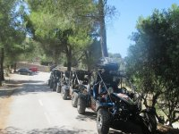 Buggies before starting the route