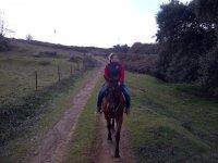 ruta a caballo llegando a la Cartuja