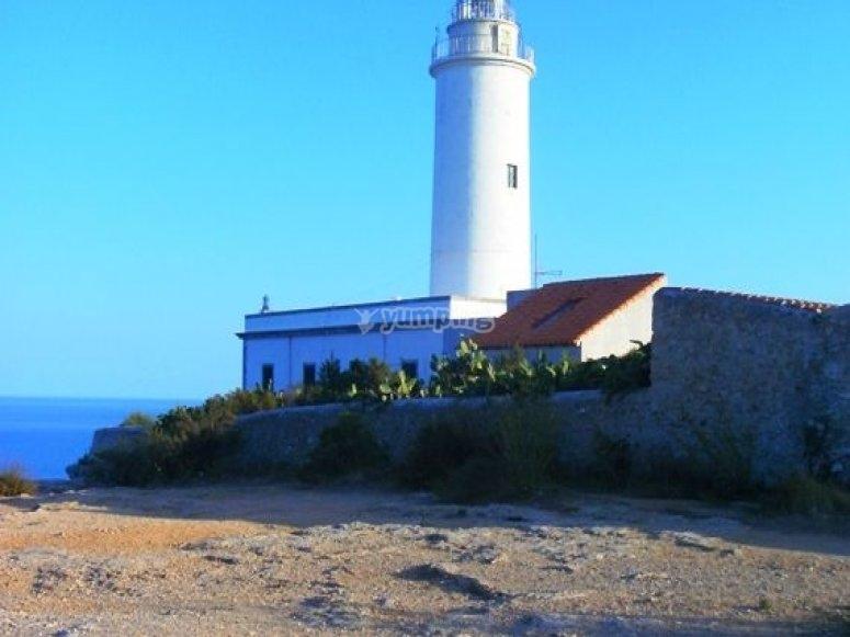在马略卡岛的灯塔。