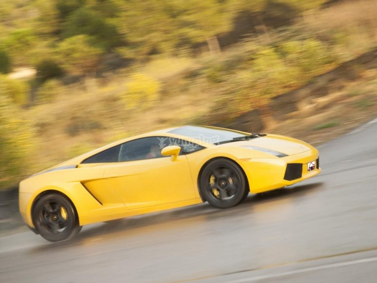 Get behind the wheel of the Lamborghini