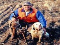 Fotografía tras la caza con perro
