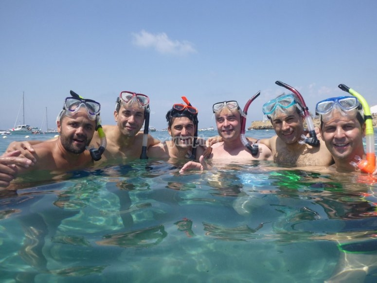 Preparados para hacer snorkel