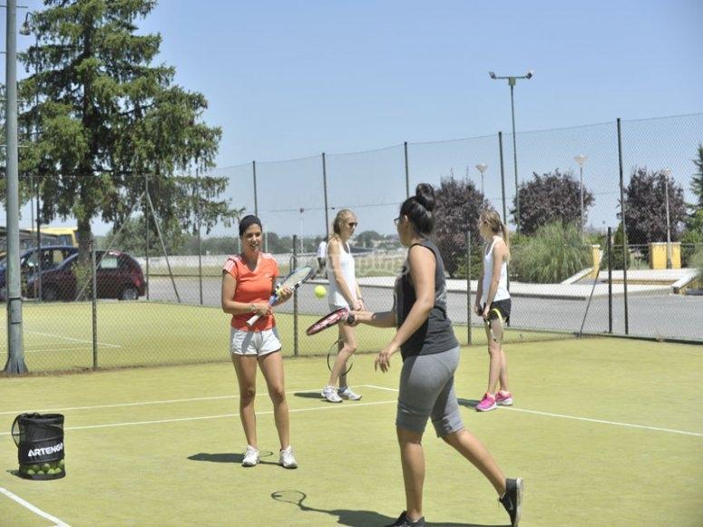 Practicando deportes