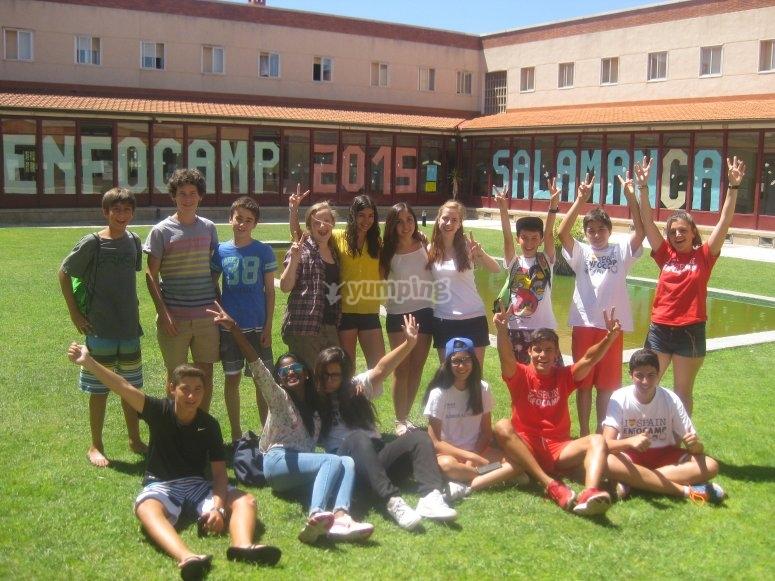 Grupo de alumnos en el camp