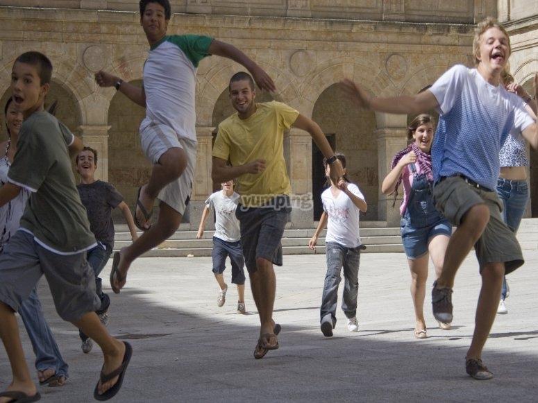 Saltando para divertirse