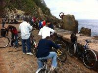 骑自行车在San Sebastian