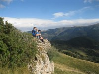 Looking the tops of the Pyrenees