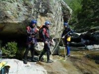 Descenso de barranco en Solana, dificultad baja