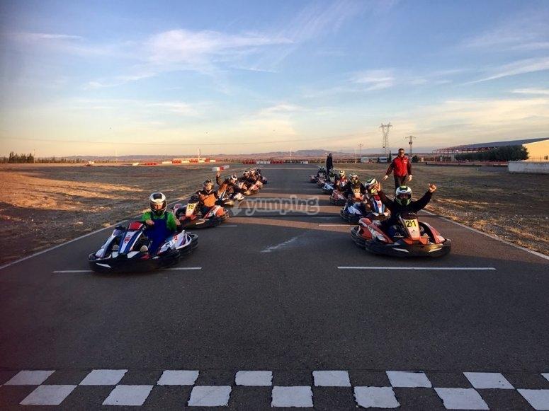 Linea de meta karting en Zuera