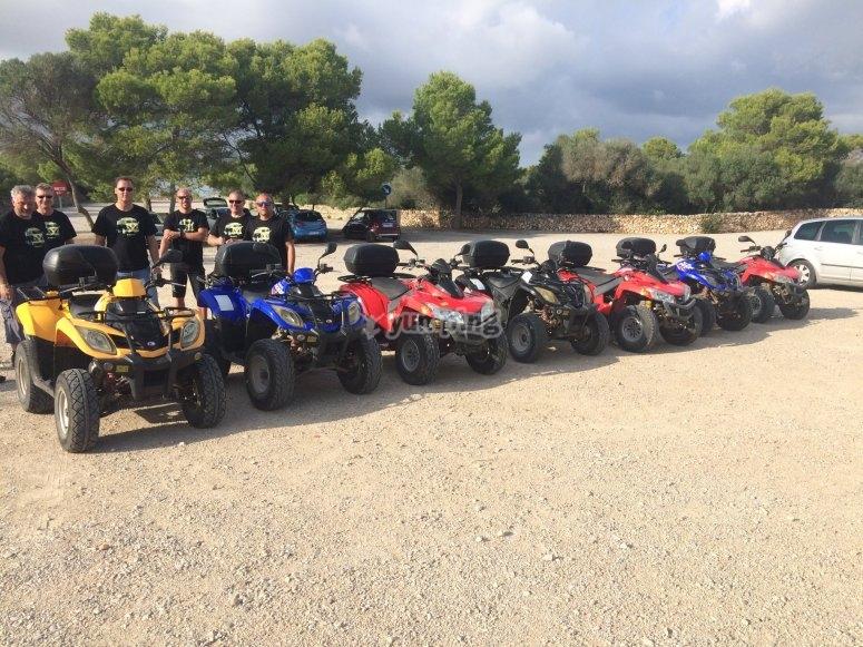 Quad rental for large groups Menorca