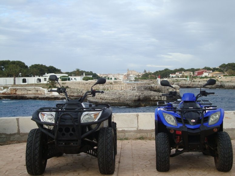Rent your two-seater quad in Ciudadella