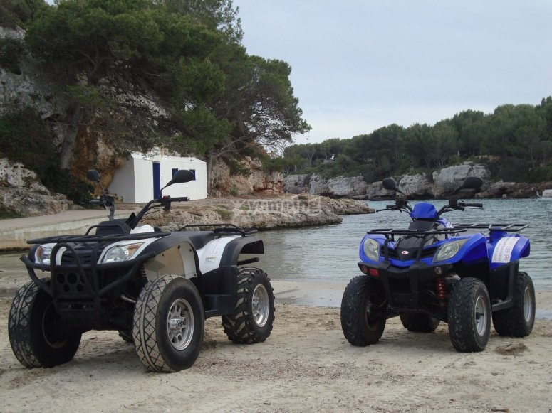 Rent two-seater quads in Ciudadella