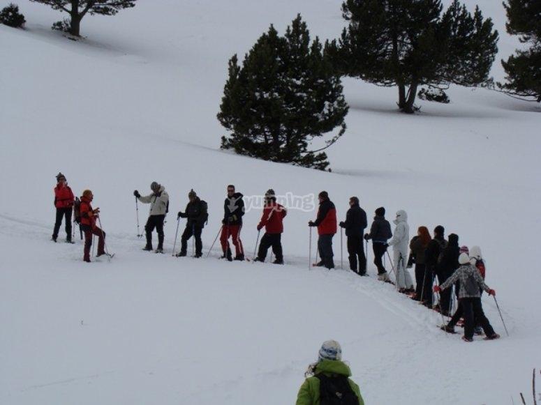 Iniciacion a las raquetas de nieve