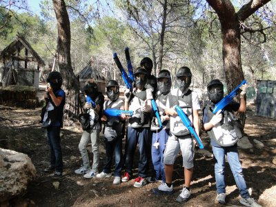 Paintball with 80 paintballs in Estivella kids