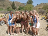 Chicas durante el tour en buggie
