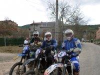 A punto de empezar la aventura en moto