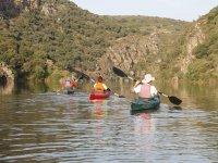 Siguiendo el rio en piragua en Zamora