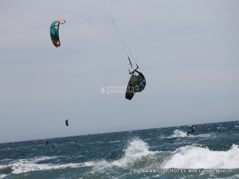 Salta en kitesurf