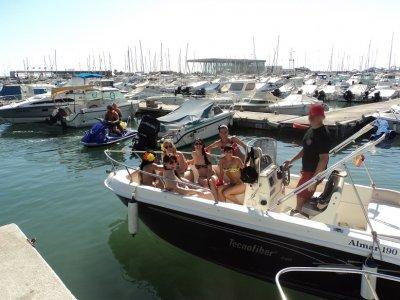 Despedida en barco en Denia con picoteo 5 horas