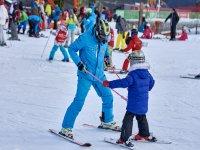 最小的滑雪课