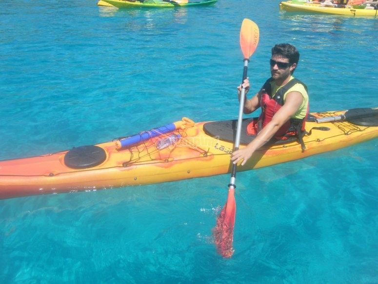 Kayak molto facile da controllare